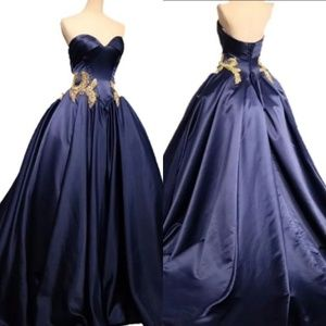 Plus Size Sweetheart Blue Gown